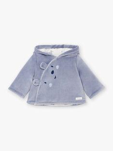 Veste à capuche lilas naissance garçon BOJEAN / 21H0CG41VES216