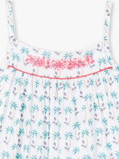 Robe blanche imprimé à fines bretelles ZYPALMETTE / 21E2PFU1RBS000