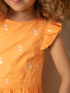 Robe orange à volants  ZIBRODETTE / 21E2PFO1CHS406