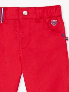 Pantalon rouge uni bébé garçon BABROOK / 21H1BG11PAN050
