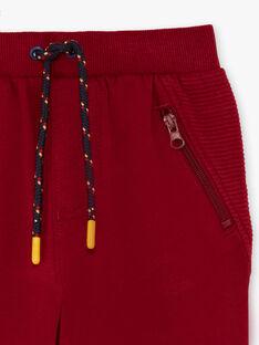 Pantalon jogging rouge bordeaux enfant garçon BEGLIAGE / 21H3PG53PAN503