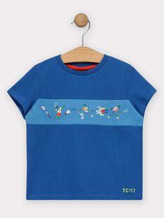 Tee-shirt manches courtes bleu garçon  TERFIAGE / 20E3PGH2TMC216