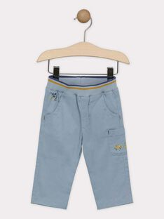 Pantalon bébé garçon bleu grisé   SAKURTY / 19H1BG61PAN205