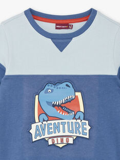 Sweat colorblock dinosaure  ZECRAGE / 21E3PGB2SWEC230
