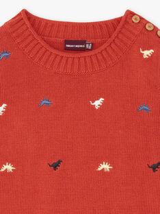 Pull rouge dinosaure ZEBLAGE / 21E3PGB1PUL506