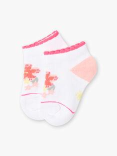 Socquettes blanches fleur bébé fille ZASUNDAY / 21E4BFU1SOB000