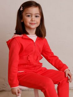 Veste de jogging rose enfant fille ZLUDETTE 1 / 21E2PFK2JGH419