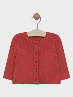 Cardigan en tricot orange bébé fille  SALILOU / 19H1BFC1CARE406