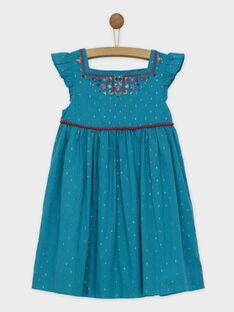Robe chasuble turquoise ROUBIETTE / 19E2PFM1CHS202