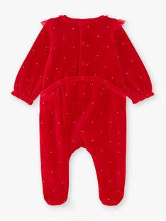 Grenouillère Rouge et bandeau bébé fille  VULILI / 20H5BFK1GREF528