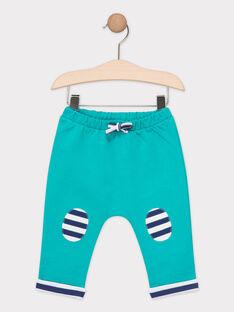 Pantalon de jogging bébé garçon bleu turquoise  TAEUDELIN / 20E1BGD1JGB209