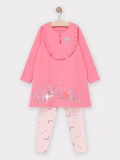 Pyjama rose petite fille  TEJUBETTE / 20E5PF71CHND318