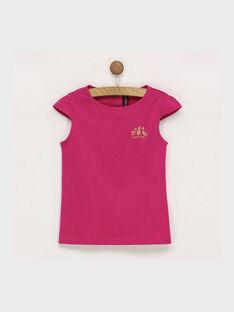 Tee shirt manches courtes rose RUFAPETTE 6 / 19E2PFQ2TMCD302