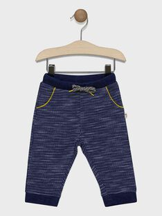 Baby boys' navy jogging bottoms SAFLORIN / 19H1BG41JGBC214