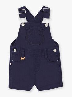 Salopette courte bleu marine bébé garçon ZAOCTAVIO / 21E1BGT1SACC214