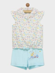 Pyjama bleu et blanc REJADETTE / 19E5PFJ2PYJ000