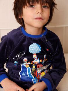 Pyjama couleur en velours  ZEDAGE / 21E5PG16PYJC205