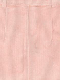 Jupe rose en velours côtelé ZAJUETTE / 21E2PF71JUPD332