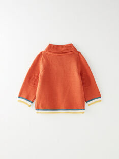 Pull marron à col châle  VAJACQUES / 20H1BGM1PUL408
