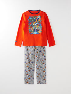 Pyjama en jersey imprimé petit garçon VERDAGE / 20H5PG24PYJ400