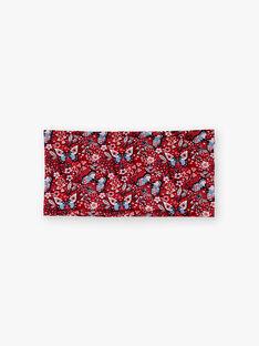 Snood rouge imprimé papillon ZOSNOETTE / 21E4PFB1SNO050