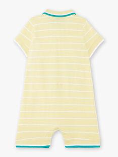Combinaison courte jaune à rayures  ZAMATHEO / 21E1BGO1CBLB104