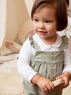 Salopette kaki à imprimé fleuri bébé fille BACHARLENE / 21H1BF21SAL604