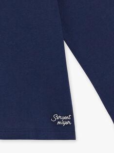 T-shirt manches longues bleu marine détail noeud enfant fille ZLABETTE 1 / 21E2PFK1TMLC214