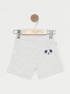 Short de jogging bébé garçon gris chiné TAPIERROT / 20E1BGP1JGBJ920