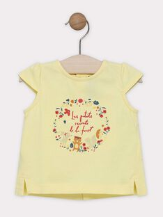 Light yellow T-shirt SAAVRIL / 19H1BF21TMCB115