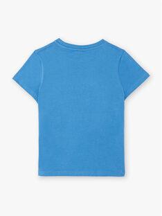 T-shirt bleu imprimé dinosaure ZADRISAGE / 21E3PGJ2TMCC206