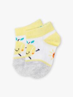 Socquettes blanches contrastées animation citron bébé garçon ZAMADI / 21E4BGO1SOB001