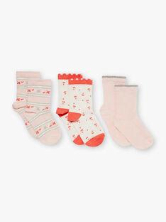 Lot de 3 paires chaussettes esprit fleurs ZOUKUETTE / 21E4PFK1LC3413