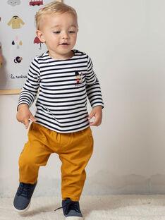 Pantalon jaune moutarde à carreaux bébé garçon BAFAKEAR / 21H1BG51PANB114