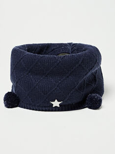 Snood marine en tricot  VEVAOETTE / 20H4PFJ2SNO705
