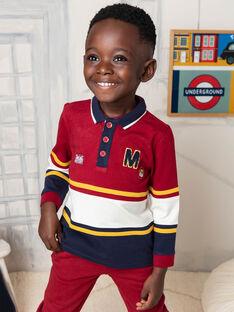 Polo manches longues tricolore enfant garçon BECIAGE / 21H3PG51POL503