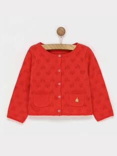 Cardigan rouge RAFABOU / 19E1BFC2CARF505