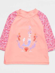 Peach Anti-UV T-Shirt NYSOFETTE / 18E4PFV1TUV311