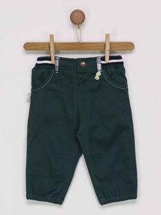 Pantalon vert foncé PAMATHIEU / 18H1BGH2PAN060