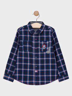 Chemise bleue à carreaux garçon  TAPAGE / 20E3PGC1CHM070