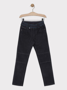 Pantalon gris foncé en velours garçon SISLIMAGE 3 / 19H3PGH4PAN942