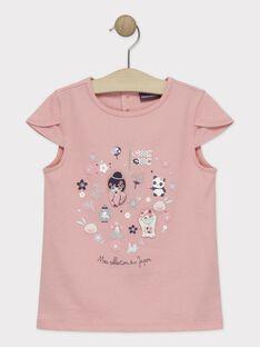T-Shirt rose fille  TAYIBETTE / 20E2PFP1TMCD323