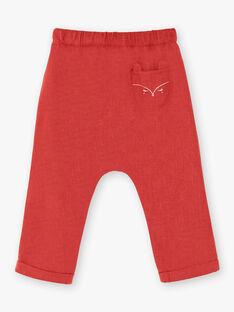 Pantalon marron en flanelle  VAKARINE / 20H1BFR1PANI816