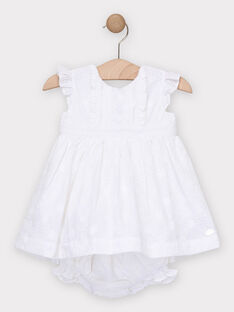 Robe en broderie anglaise écru bébé fille  TALEA / 20E1BFJ1ROB000