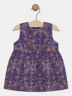 Robe imprimée en satin bébé fille  SAGERALDINE / 19H1BF61CHS712
