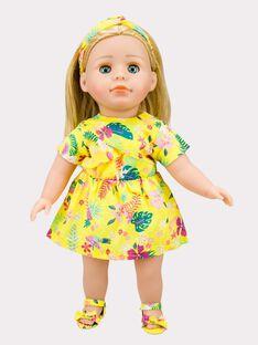Silhouette poupée jaune à motifs ROJUROBET9 / 19EZENX4TEN108