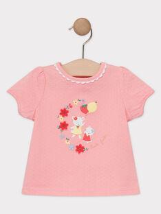 T-shirt rose bébé fille  TAMELIE / 20E1BFH1TMC318