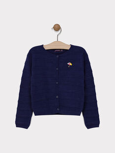 Navy Cardigan SIMORETTE / 19H2PF42CAR070