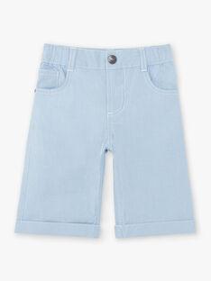 Bermuda bleu clair enfant garçon ZUZTAGE1 / 21E3PGL3BER001