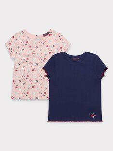 Lot de deux t-shirt manches courtes fille  TOULAETTE 1 / 20E2PF92LDT070